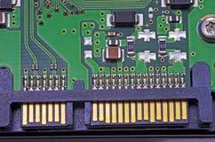 Conector del disco duro de Sata fotos de archivo libres de regalías