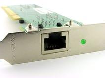 Conector del LAN. Fotografía de archivo