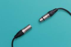 Conector del micrófono del cable XLR Imagenes de archivo