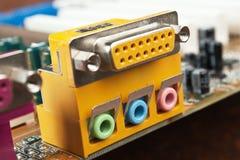 Conector del ordenador Foto de archivo libre de regalías