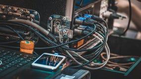Conector del zócalo de la junta del enchufe eléctrico imagen de archivo