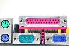 Conector do cartão-matriz do computador Foto de Stock