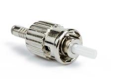 Conector do ST da fibra ótica Foto de Stock Royalty Free