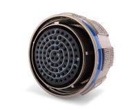 Conector elétrico cilíndrico Imagem de Stock Royalty Free