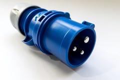 Conector industrial del poder Foto de archivo libre de regalías