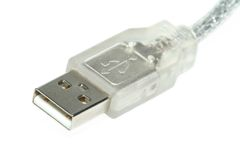 Conector transparente do usb foto de stock royalty free