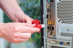 Conector USB del ordenador fotos de archivo libres de regalías