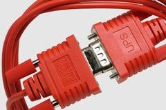 Conector vermelho Fotos de Stock Royalty Free