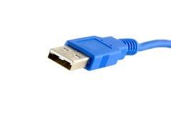 Conector y cable del USB Fotografía de archivo libre de regalías