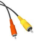 Conectores audio Foto de Stock Royalty Free