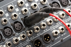 Conectores audio fotografia de stock