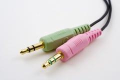 Conectores audio Imagem de Stock