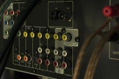 Conectores audio do receptor imagens de stock royalty free