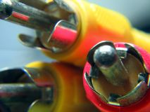 Conectores audio e video Fotos de Stock