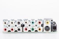 Conectores audio e video imagens de stock royalty free
