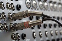 Conectores audio fotos de stock royalty free