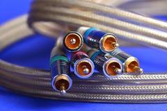 Conectores audio video imagens de stock