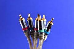 Conectores audio video imagem de stock royalty free