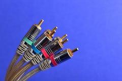 Conectores audio video foto de stock