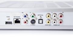 Conectores audio-visuales Foto de archivo
