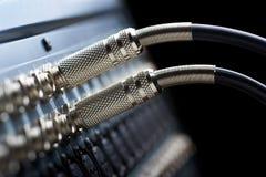 Conectores audios Fotografía de archivo libre de regalías