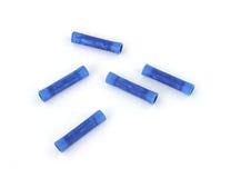 Conectores azules del empalme del alambre imagenes de archivo