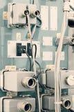 Conectores bondes industriais imagens de stock
