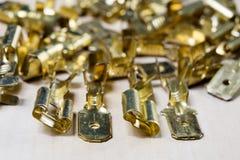 Conectores bondes novos Acessórios para o installati bonde foto de stock royalty free