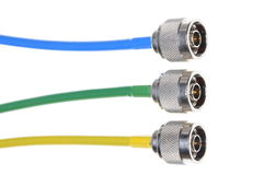 Conectores coaxiais Fotografia de Stock