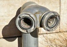 Conectores da boca de incêndio de fogo imagem de stock royalty free
