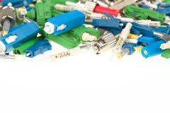 Conectores da fibra ótica imagem de stock