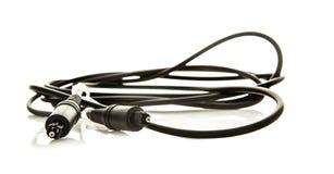 Conectores da fibra ótica de Toslink Foto de Stock