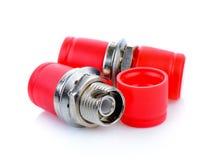 Conectores da fibra ótica, ST, SC e FC fotos de stock royalty free