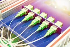 Conectores da fibra ótica fotos de stock