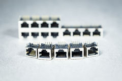 Conectores da transmissão de dados  fotografia de stock