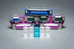 Conectores da transmissão de dados  Fotos de Stock