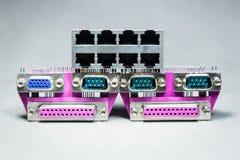 Conectores da transmissão de dados  Imagens de Stock Royalty Free