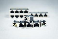 Conectores da transmissão de dados  Fotografia de Stock Royalty Free