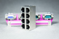 Conectores da transmissão de dados  Imagem de Stock