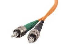 Conectores das fibras ópticas fotos de stock royalty free