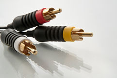 Conectores de cable del sistema de pesos americano Imagen de archivo libre de regalías