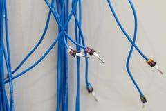 Conectores de cabo bonde foto de stock