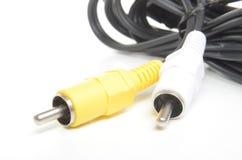 Conectores de cabo de RCA Imagens de Stock