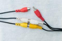 Conectores de cabo incompletos fotografia de stock royalty free