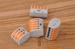 Conectores de emenda compactos fotografia de stock royalty free