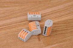 Conectores de emenda compactos fotografia de stock