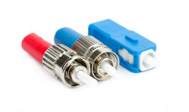 Conectores de la fibra óptica, ST, SC y FC Foto de archivo