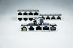 Conectores de la transmisión de datos Imagen de archivo libre de regalías