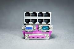 Conectores de la transmisión de datos Foto de archivo libre de regalías