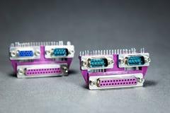 Conectores de la transmisión de datos Fotografía de archivo